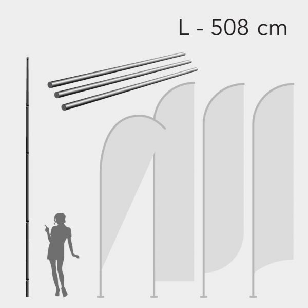 Mastro para Bandeira Promocional - Tam. L - 508cm