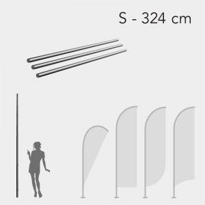 Mastro para Bandeira Promocional - Tam. S - 324cm