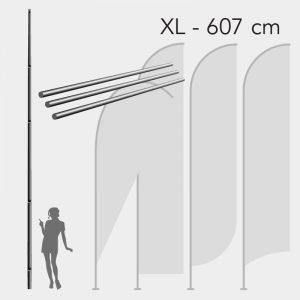 Mastro para Bandeira Promocional - Tam. XL - 607cm