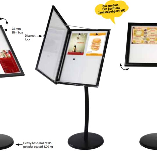 Menuboard Magnético para Restaurantes – 4xA4