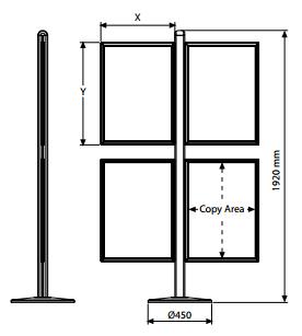 Moldura Slide-in dupla face para Sistema FREESTANDING