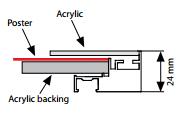 Moldura Smart Magnética c/LED - Cinza - B2