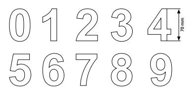 Números para Entradas Cromados - 0 a 9