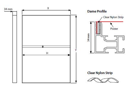 Quadro GULF MAXI de Parede - 34x32 mm - Perfil DAME