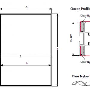 Quadro LAGOON MAXI de Parede Dupla Face - 45x15 mm - Perfil QUEEN - B2