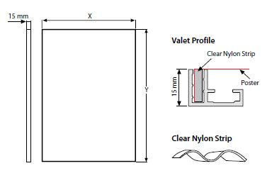 Quadro RIVER MAXI de Parede - 15x22 mm - Perfil VALET - B2
