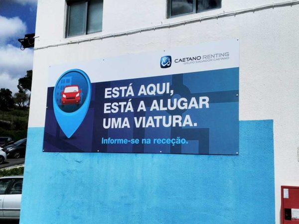 Placa de Informações - Caetano Renting
