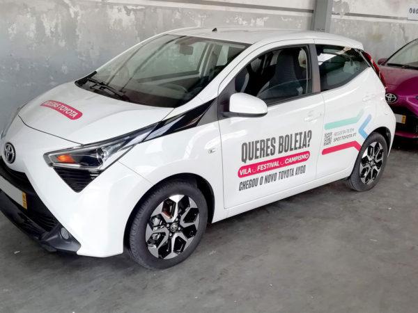 Boleias Toyota AYGO - Meo Sudoeste e Vodafone Paredes de Coura