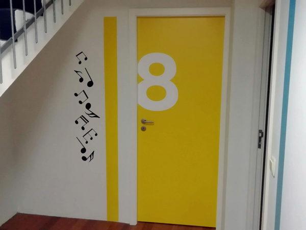 Decoração das Portas - Sala 8